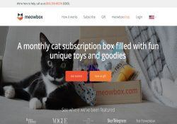 MeowBox Review - Monthly Cat Subscription Box Delivery (Toys & Treats)