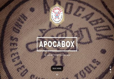 apocabox homepage screenshot