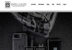 barrel and blade homepage screenshot