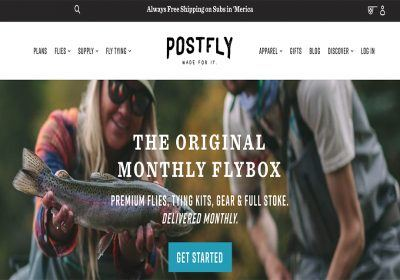 postfly homepage screenshot