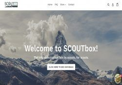 scout box homepage screenshot