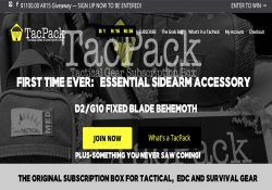 tacpack homepage screenshot