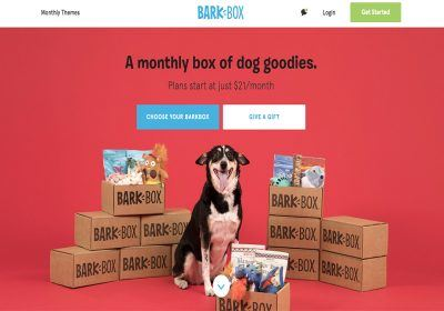 barkbox homepage