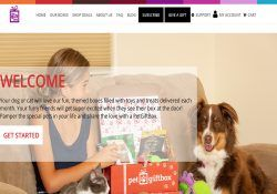 pet gift box homepage