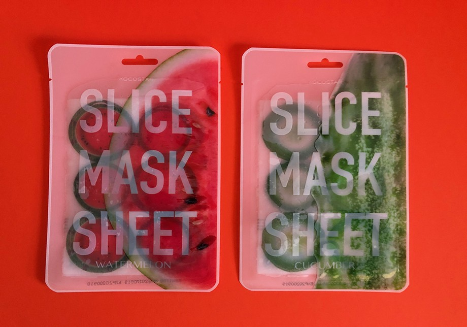 KOCOSTAR Watermelon + Cucumber Sheet Masks