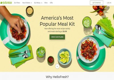 Inches Hellofresh  Meal Kit Delivery Service