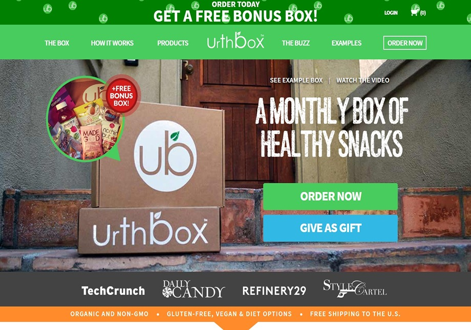 urthbox homepage